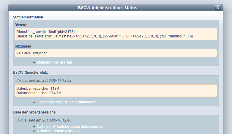 BSCW-Administration